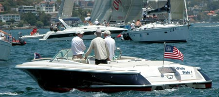 learn to drive a boat in Sydney harbour