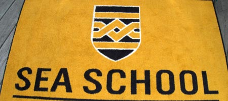 Sea School welcome mat